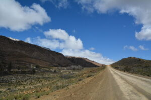 road hehind mountain 1