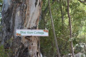blue gum cottage sign